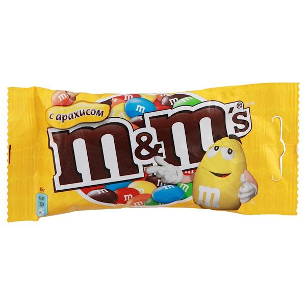 M&Ms с арахисом