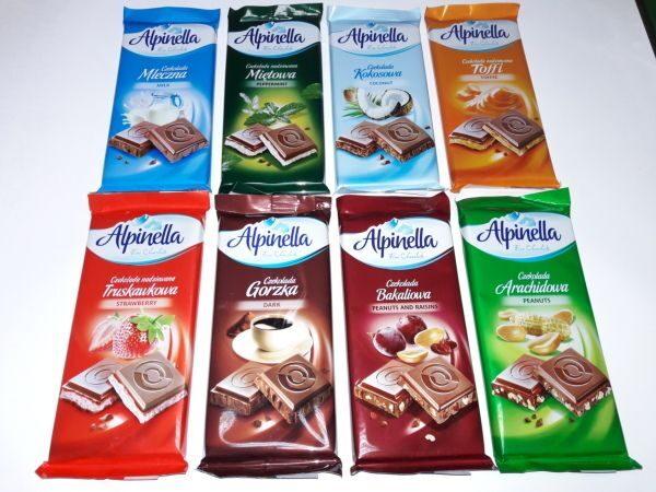 Шоколадки Alpinella