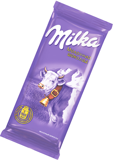 Молочный шоколад Милка