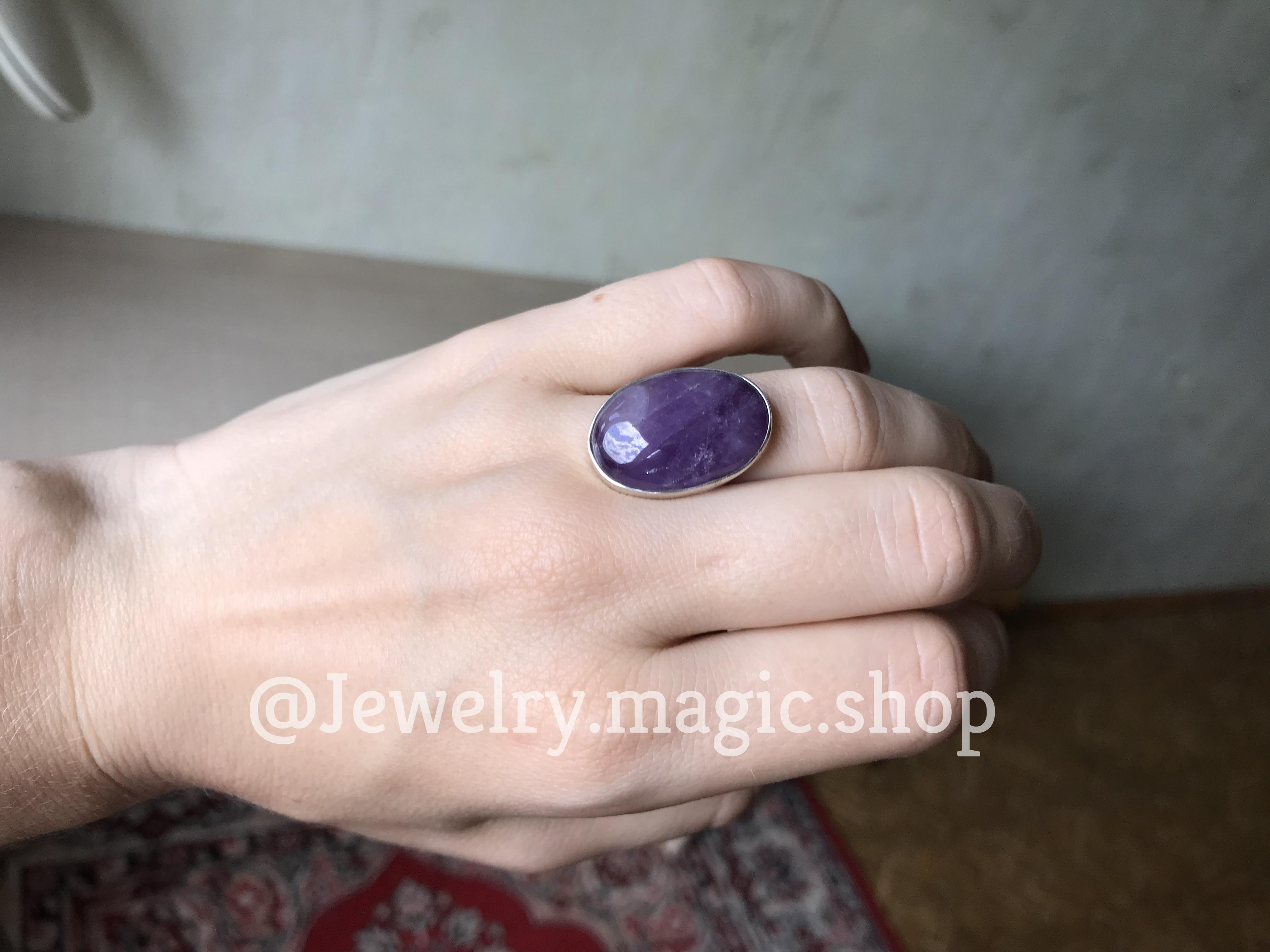 Кольцо с аметистом