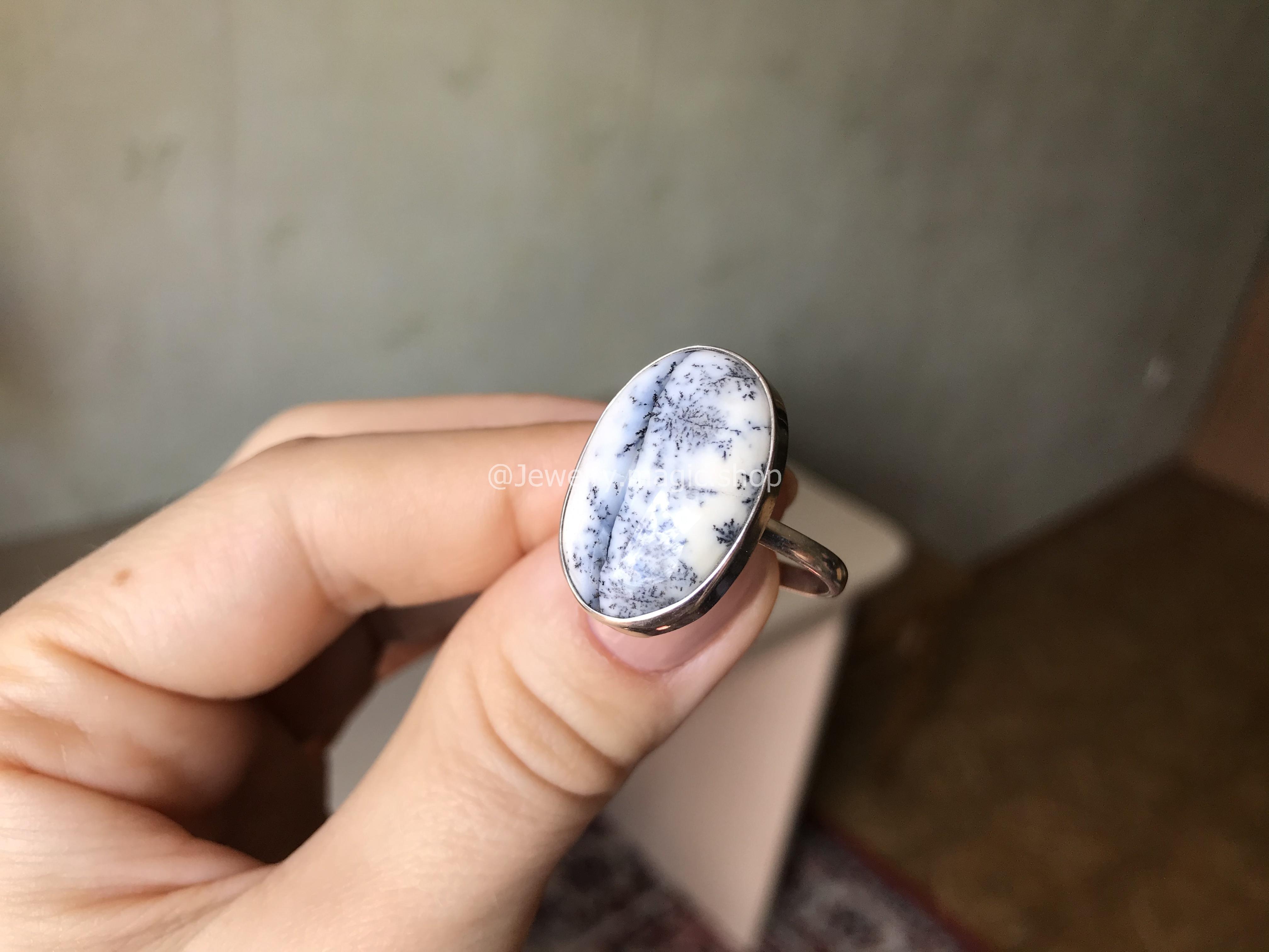 Кольцо с Дендроагатом