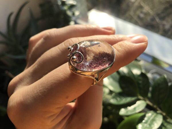 Кольцо с горным хрусталем